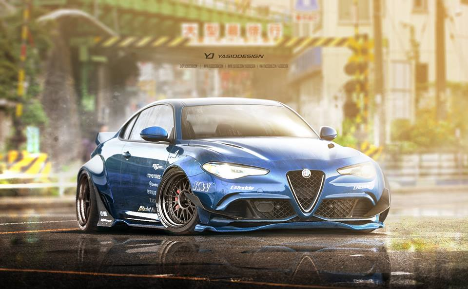 Alfa Romeo Giulia Loses Two Doors Gains Wide Body Kit