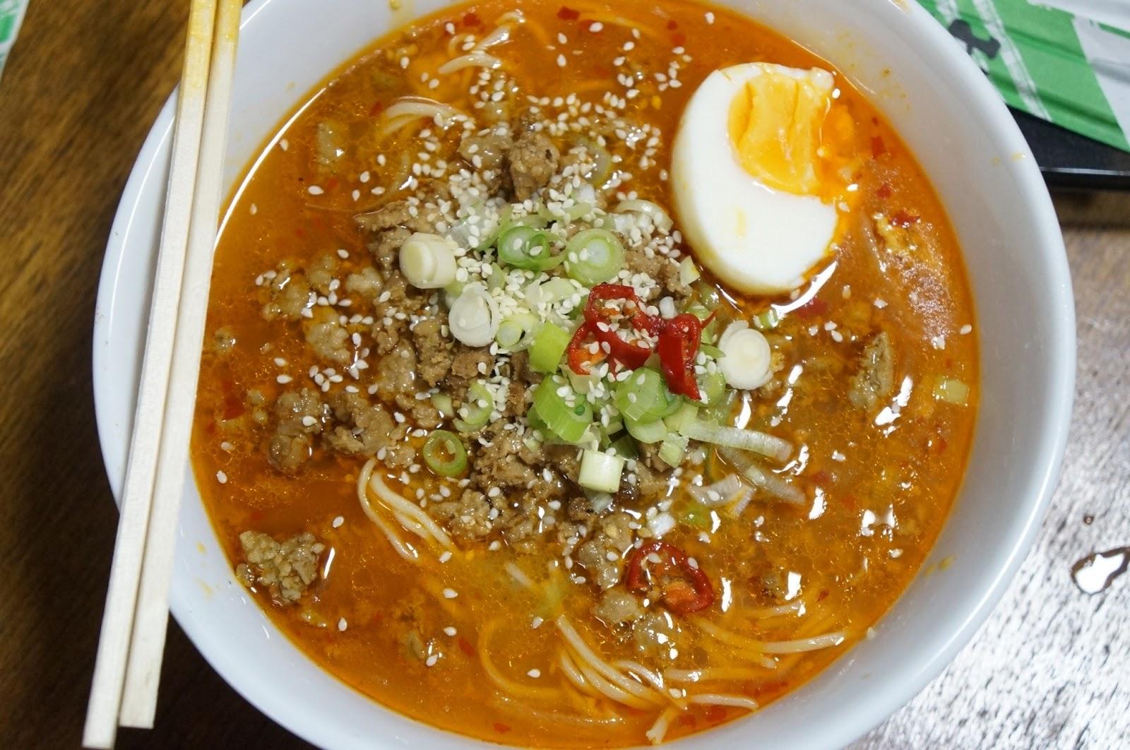 TAN TAN RAMEN with TONKOTSU BROTH (spicy) | Foodpaths