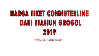 Harga Tiket Commuterline Dari Stasiun Grogol Terbaru 2019