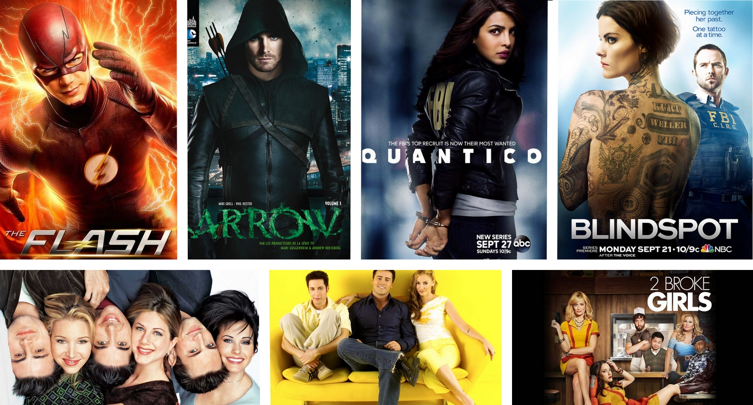 mes séries arrow flash quantico blindspot friends joey 2 broke Girls