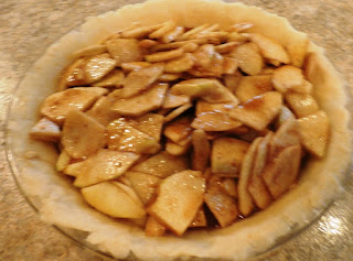 apples in pie plate