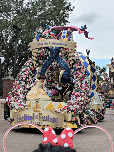Celebrating my Birthday at the Magic Kingdom - Magic Kingdom Parade - Beauty and the Beast
