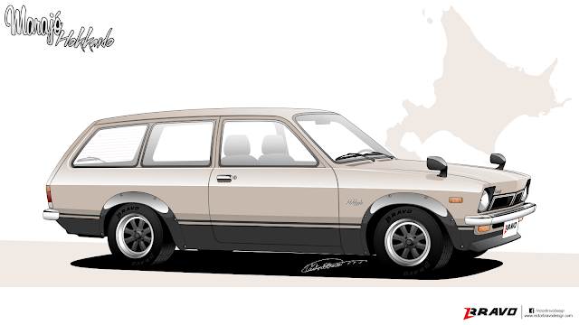 """Imagem mostrando a frente do Chevrolet Marajó """"Hokkaido"""""""