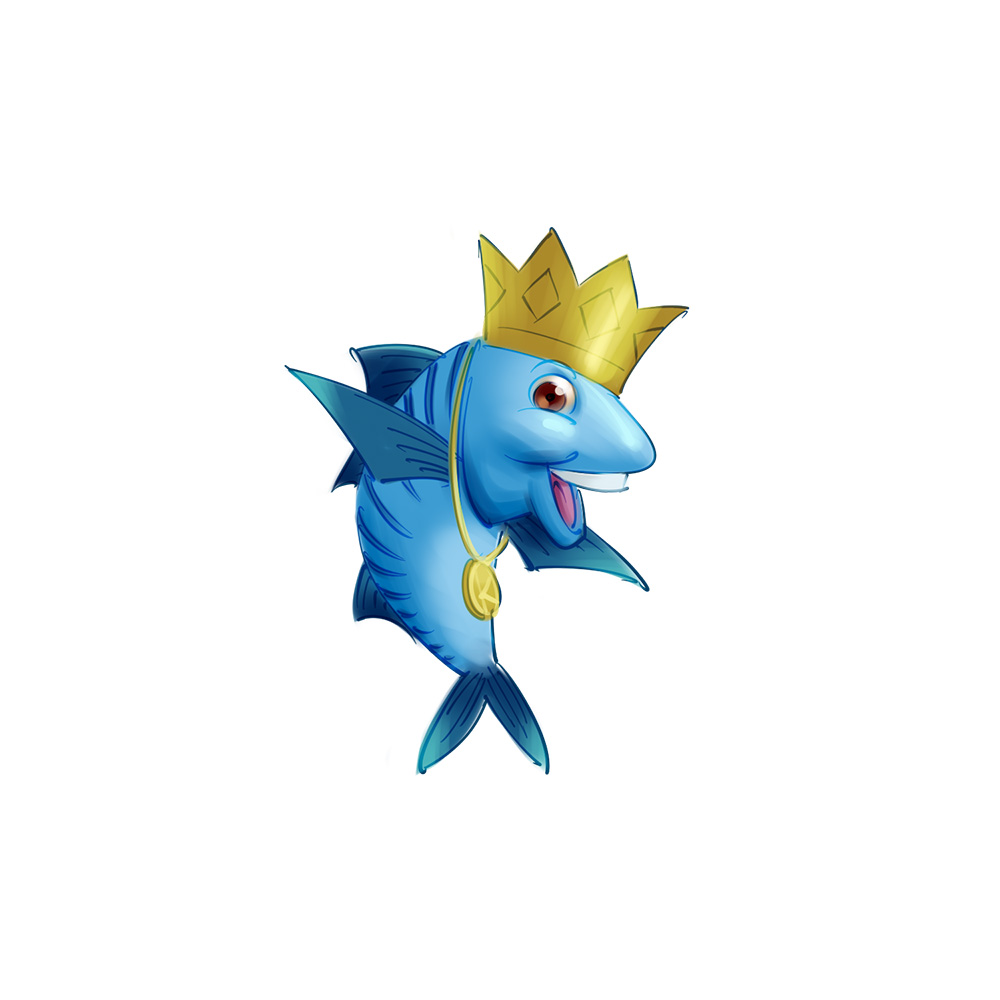 cute makarel fish mascot design