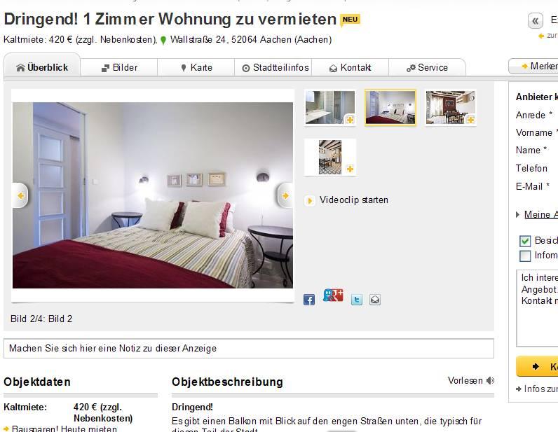 Wohnung Aachen Wallstrae