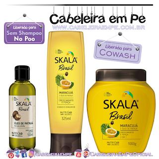 Óleo, Condicionador e Creme de Tratamento 2 em 1 Maracujá e Óleo de Patauá - Skala (No Poo)
