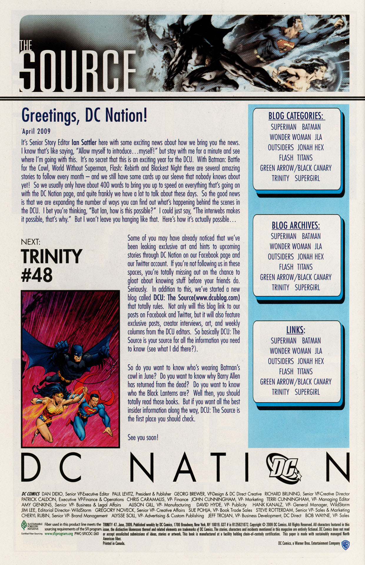 Read online Trinity (2008) comic -  Issue #47 - 33