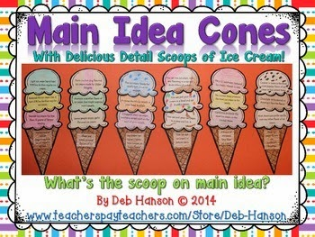 Simple Insights Topic Main Idea And Details Ice Cream