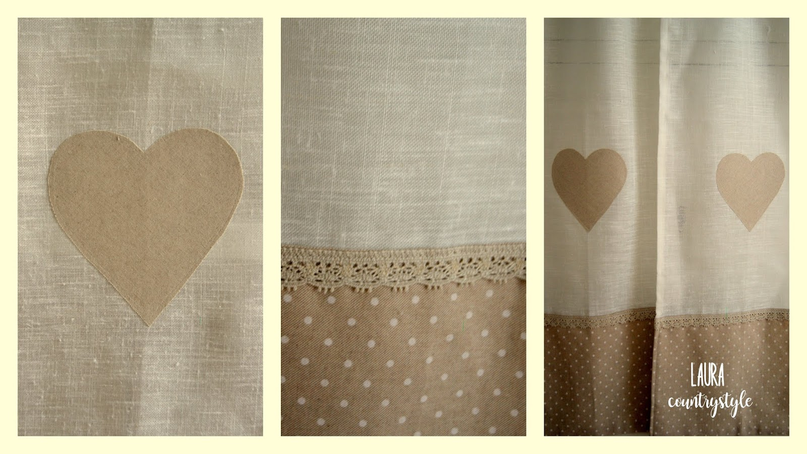 Laura country style: Diy: tende shabby chic