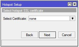 Menentukan SSL certificate mikrotik