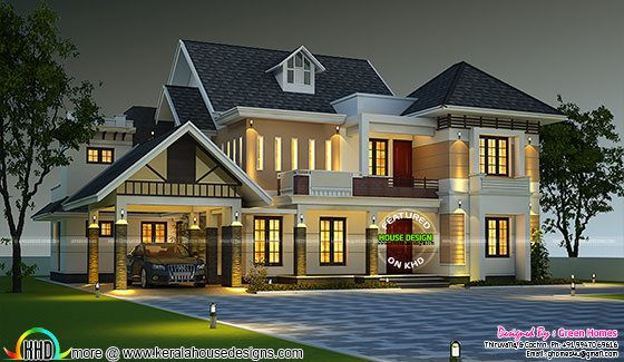 Elegant dormer window house plan