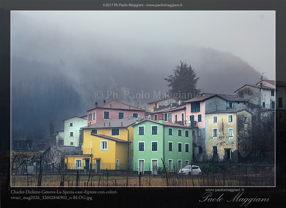 Paesaggi apuo lunensi charles dickens case dipinte con for Case la spezia