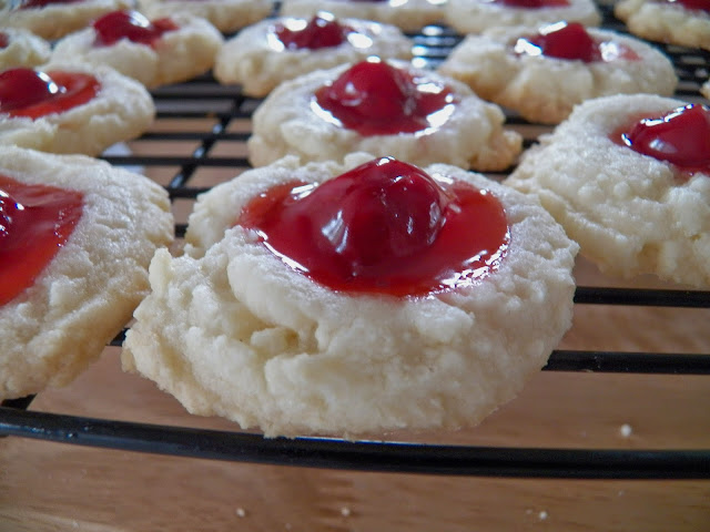 Cherry Pie Shortbread Thumbprint Cookies