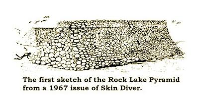 rock lake underwater pyramid sketch
