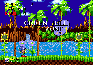 Videojuego Sonic the Hedgehog - Pantalla Green Hill