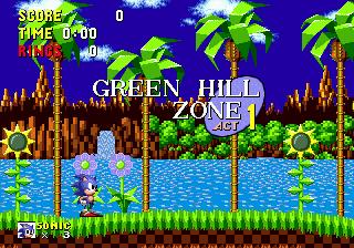 Videojuego Sonic the Hedgehog - Pantalla Green Hill