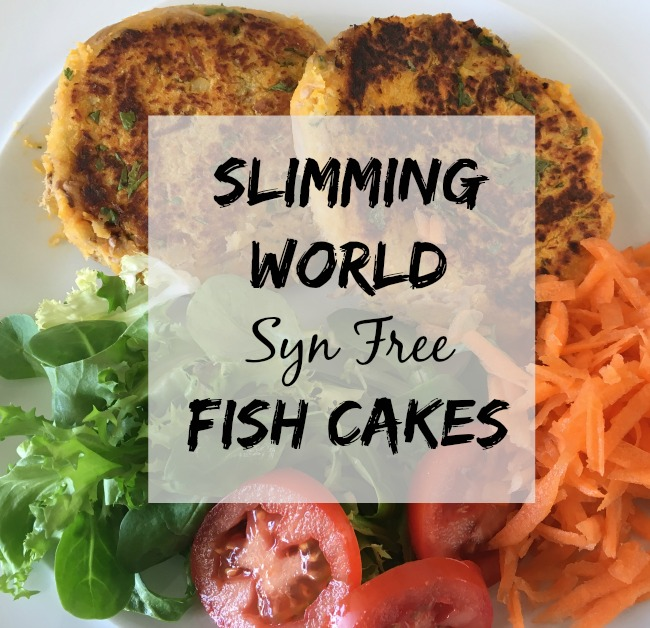 Slimming-world-syn-free-fish-cakes-text-over-image-of-fish-cakes-and-salad