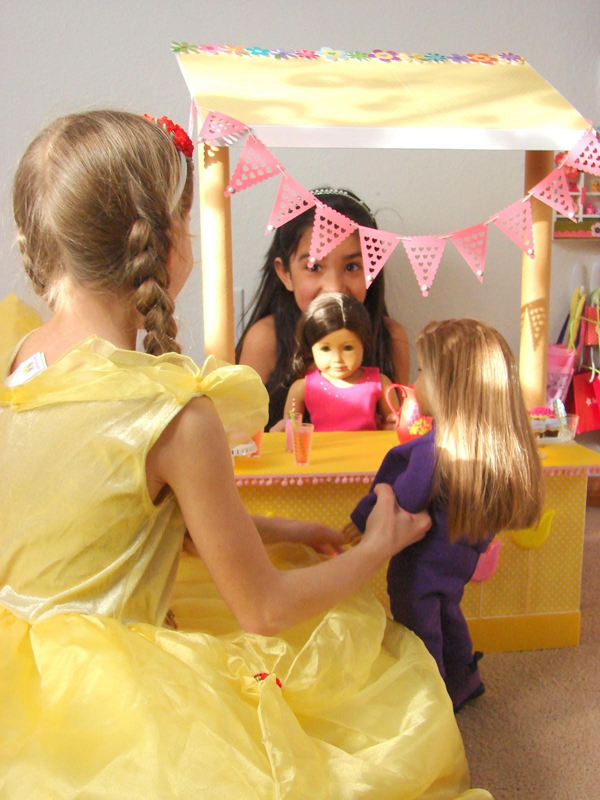 American Girl Doll Play Doll Craft Make A Lemonade Stand