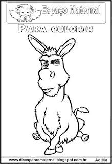 Desenho do burrinho para colorir