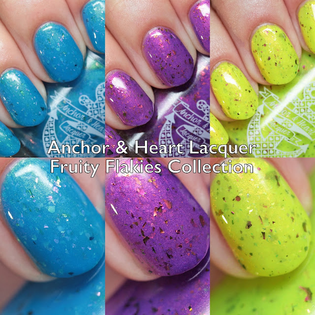 Anchor & Heart Lacquer Fruity Flakies Collection
