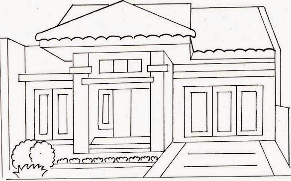 36 Gambar Rumah Tingkat Untuk Mewarnai Terbaru Lingkar Png