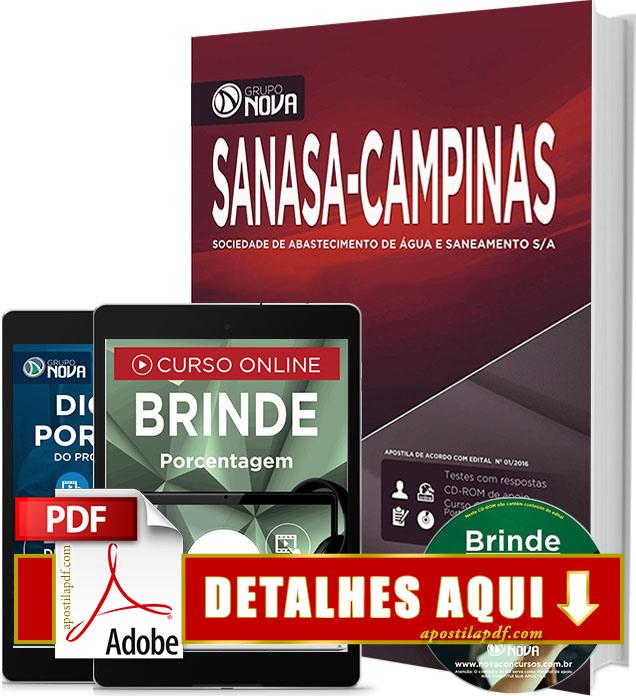 Apostila SANASA Campinas SP 2016 Impressa