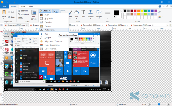 aplikasi editor gambar screenshot terbaik
