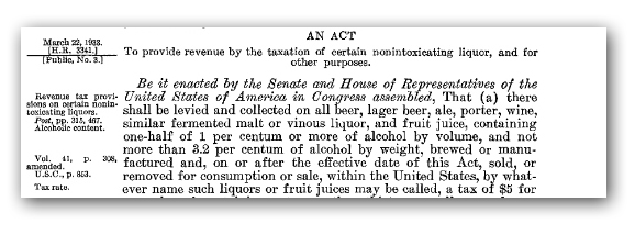 Text of Cullen-Harrison Act