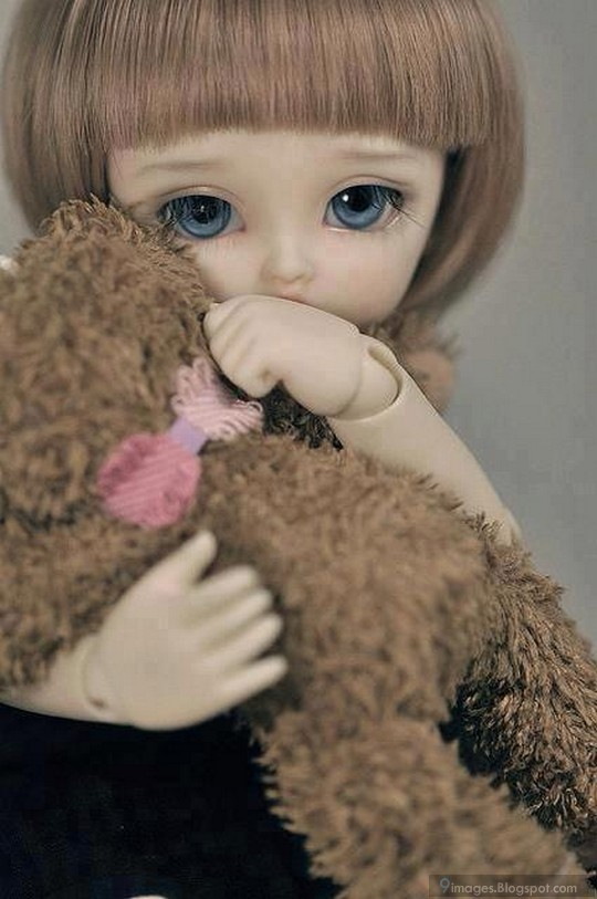 Sad Doll Girl Alone Cute With Teddy Hug
