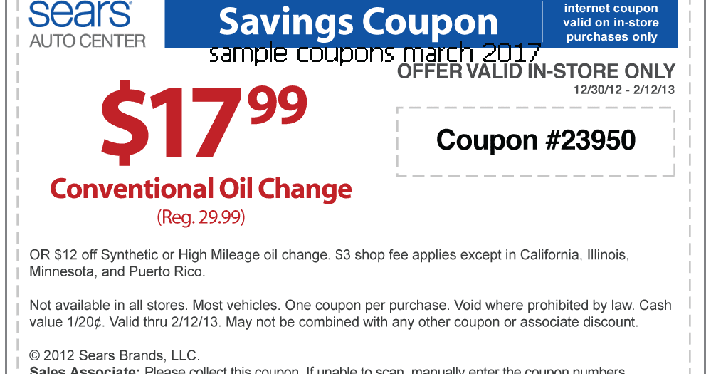 Printable coupons blogspot sears