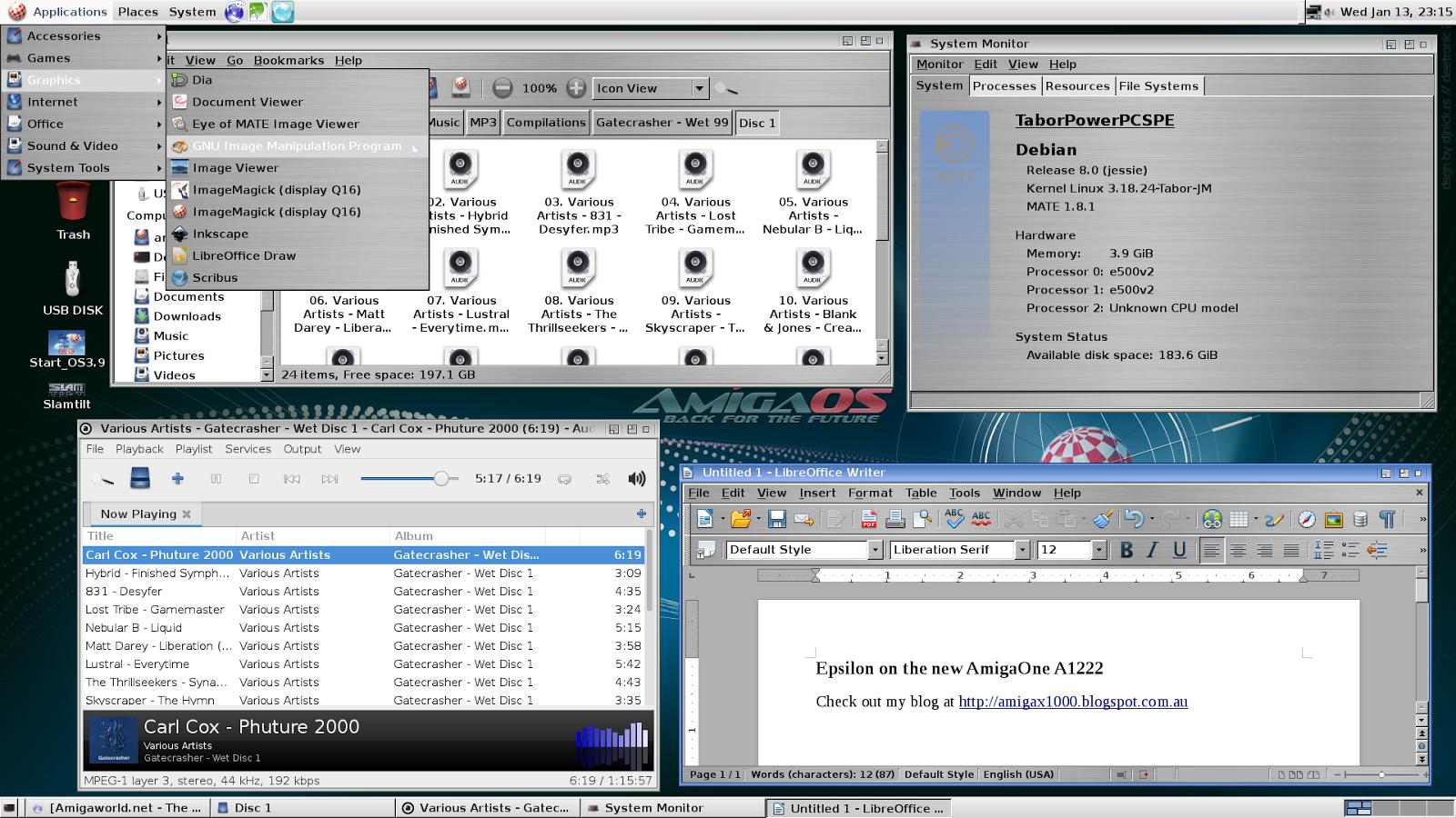 Epsilon's Amiga Blog: Debian Linux on AmigaOne A1222