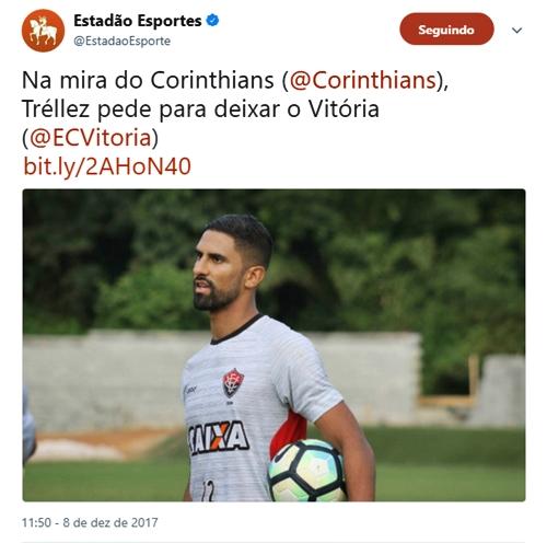 Santiago Trellez nega ter pedido pra sair e diz que está negociado sua renovação com o Vitória 3