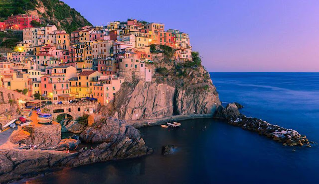 Manarola is located in Italy