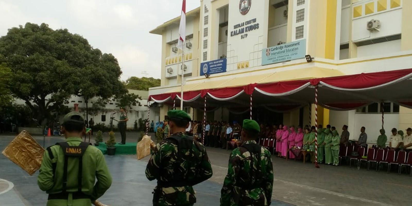Penutupan TMMD Sengkuyung III Tahun 2018 di SMP Kalam Kudus