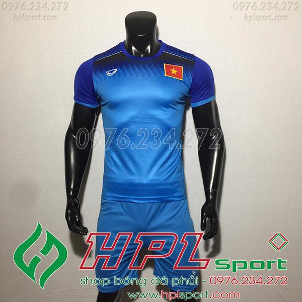 Áo bóng đá đội tuyển Việt Nam training xanh 2019