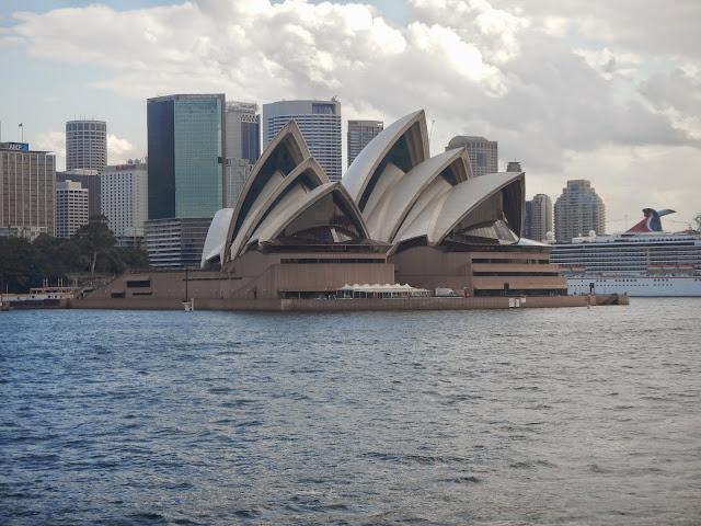 La bahía de Sidney vista desde un barco