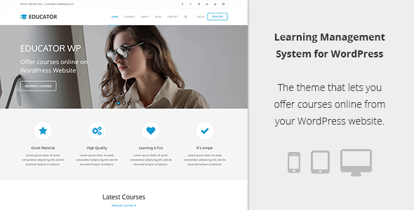 Learning Management System Theme
