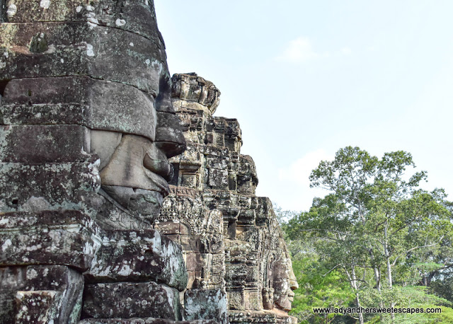 the giant smiling faces of Bayon