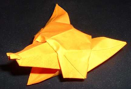 Origami Fox Template with Instruction | Free Printable Papercraft ... | 296x432