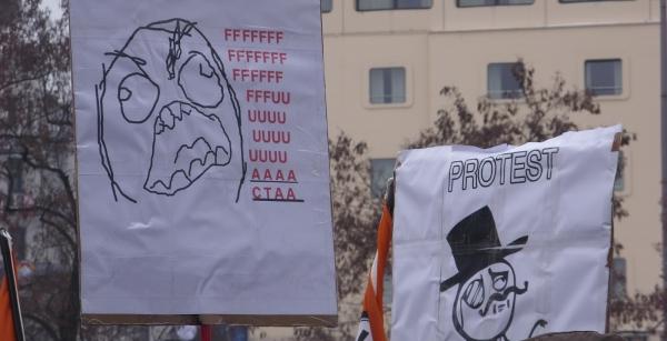 Gegen ACTA in München