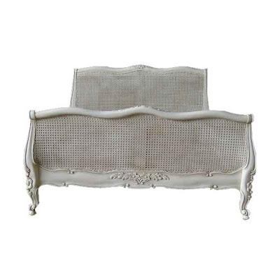 mebel ukir jepara,tempat tidur ukir jepara jati klasik cat duco french style italian furniture.code 90031