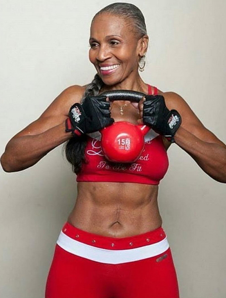 72 year old woman athletic body