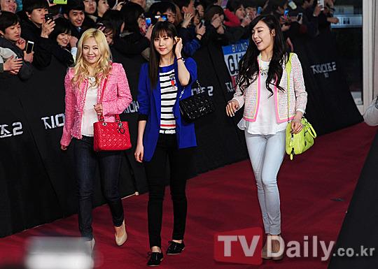 Hyoyeon, Seohyun & Tiffany at G.I.JOE 2 Movie Premiere