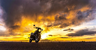 Riding Brigitta to a Sunset