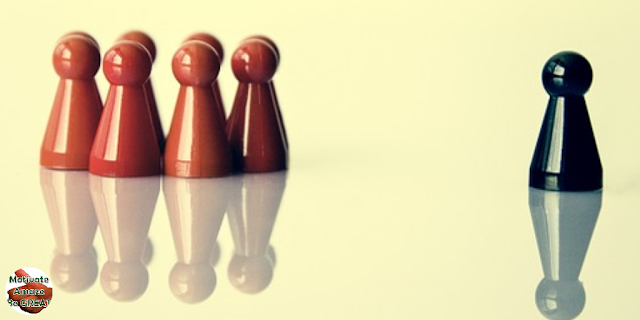 """Featured in the article: """"7 Tips To Help You Transitioning From Peer To Manager"""". Represents a  new manager drawing a professional boundary from former peers."""