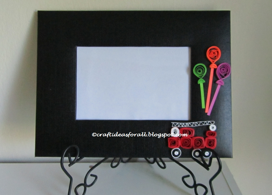 Craft Ideas for all: Paper Quilled Theme Photo Frames for Kids