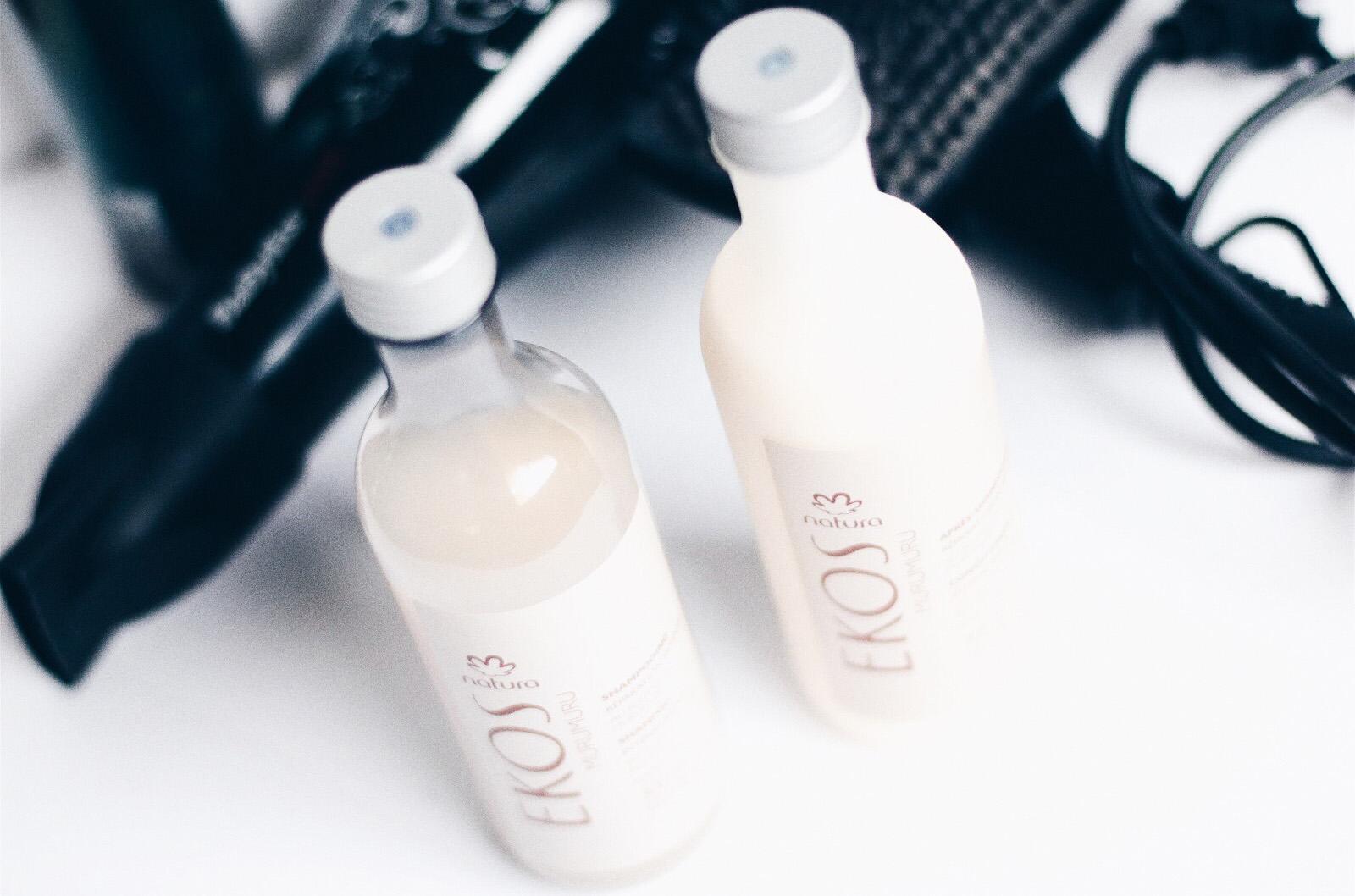 natura brasil ekos murumuru shampooing après shampooing avis test