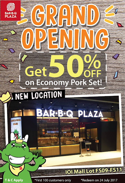 BarBQ Plaza Malaysia Economy Pork Set 50% Discount Offer Opening Promotion