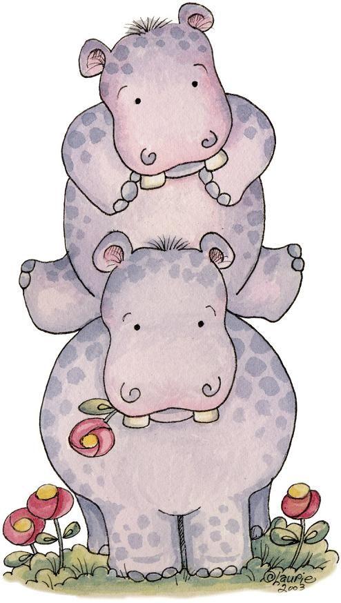 hipopótamos animado