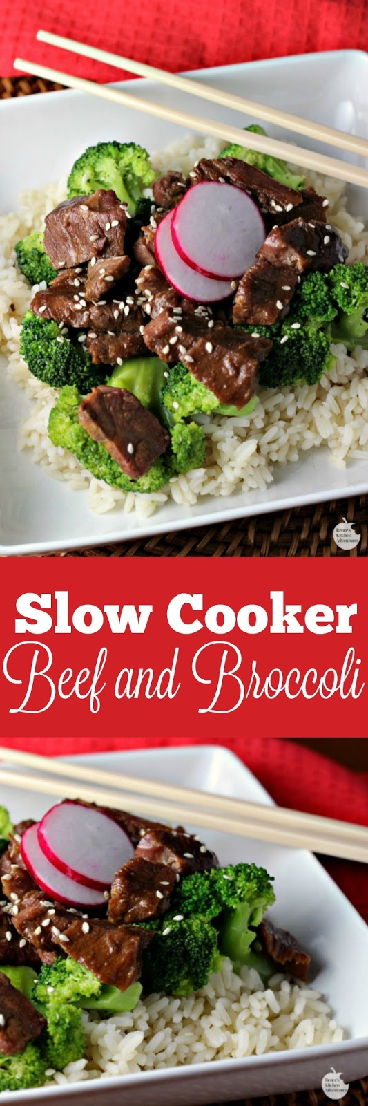 Slow Cooker Beef and Broccoli | by Renee's Kitchen Adventures - Easy crockpot recipe with lots of Asian flavor!  You have to make this better than takeout recipe for dinner tonight!